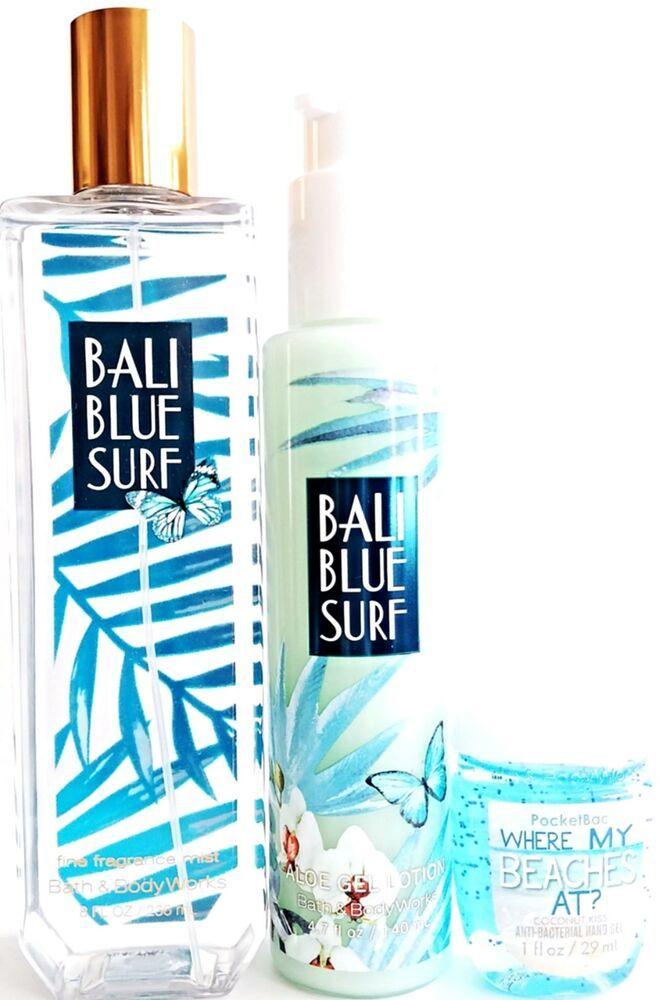 Bath And Body Works Bali Blue Surf Aloe Gel Lotion Body Mist