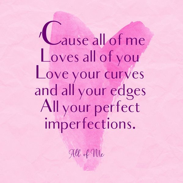 All of Me, John Legend - Romantic Song Lyrics We'll Always Love - Photos