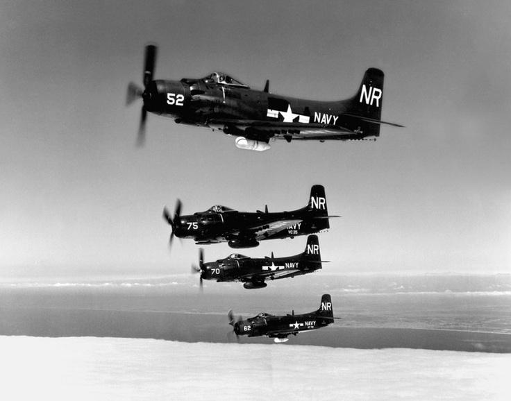 us navy douglas a1 skyraiders nas san diego 1950