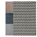 light blue grey chevron rug had for 2 months now for the living room redo....8x10 only $150.00