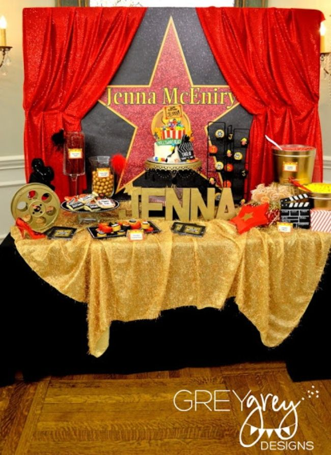 Red Carpet Hollywood Party {teen party themes}