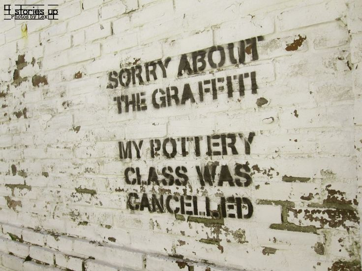 Sorry about the graffiti; my pottery class was cancelled.