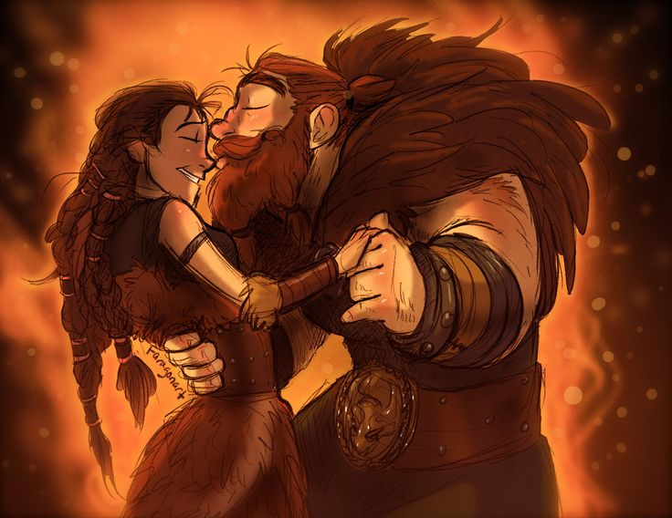By far my biggest OTP ... I want something like what they have (Valka and Stoick by faragonart)