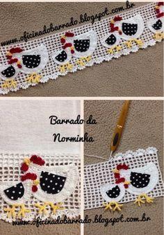 """Croche - Novas """"Galinhas"""" no Barrado... (OFICINA DO BARRADO)"""