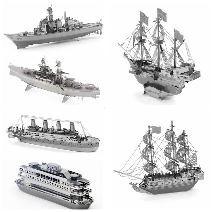 19.99$  Watch now - 6pcs/set Ship Model 3D Metal Puzzle DIY Model Gift Titanic Golden Hind Black Pearl Educational jigsaw puzzle For Kids/Adult 	  #magazineonline