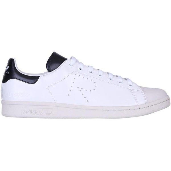 Adidas by Raf Simons Stan Smith leather sneakers (17,230 PHP) ❤ liked on Polyvore featuring shoes, sneakers, white, perforated leather sneakers, adidas, adidas trainers, perforated leather shoes and white shoes