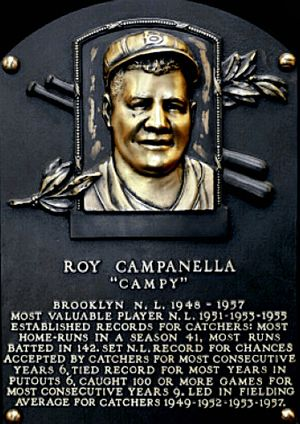 Roy Campanella, Brooklyn Dodger catcher, Baseball Hall of Fame, born in Philadelphia, Pennsylvania