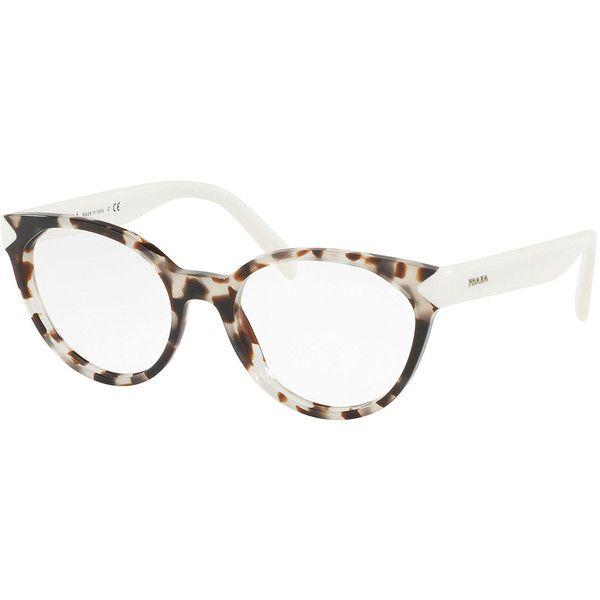 5a1531fcee05 Prada Two-Tone Cat-Eye Optical Frames (5