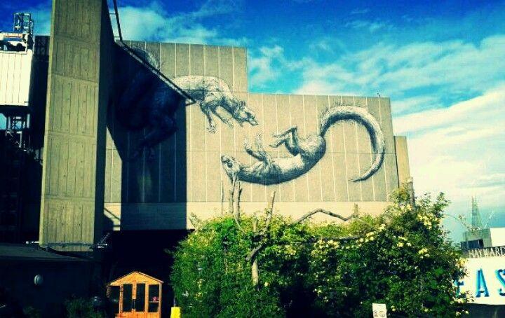Street art at Royal Festival Hall