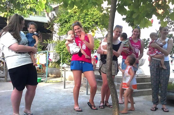 Happiness together at Bo De Pagoda Orphanage  #Pagoda #Orphange #VietnamSchoolTours #Children