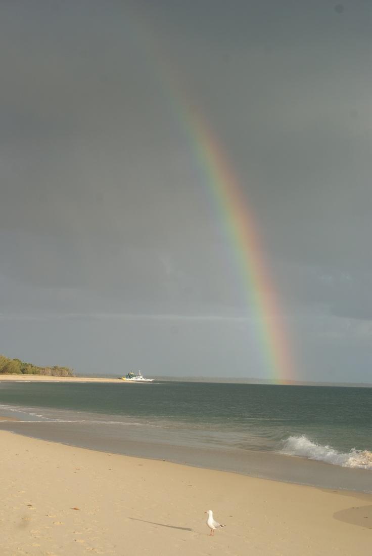 Rainbow over the ferry