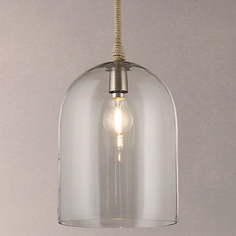 Buy john lewis cloche glass pendant ceiling light online at johnlewis com