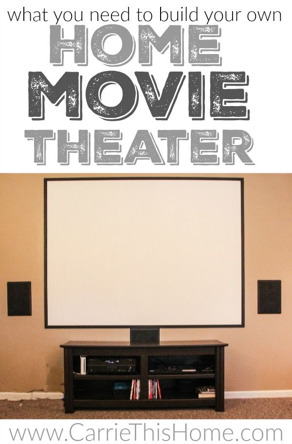 Now you can have a real movie theater in your own home!