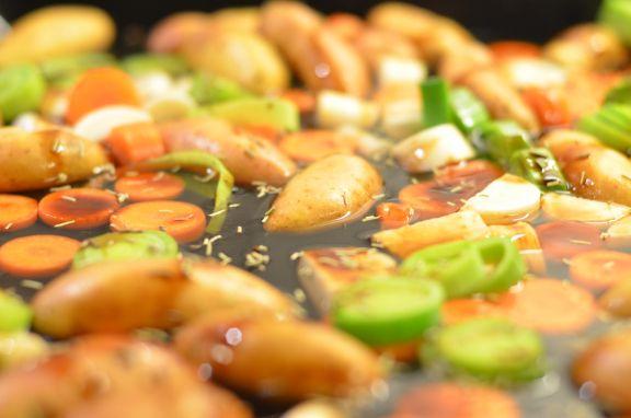 Grønnsaker til lammelårskiver