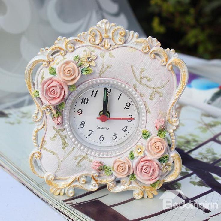 Pink Rustic Alarm Clock Home Décor on sale, Buy Retail Price Desktop Decorations at Beddinginn.com