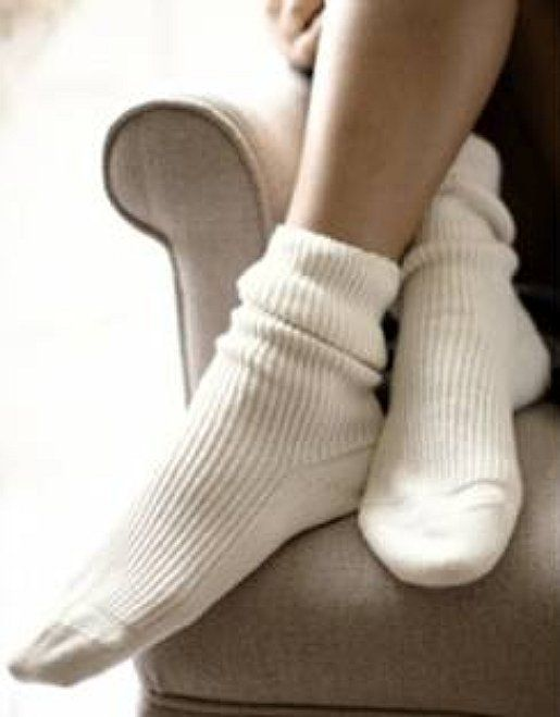 Love my white company cashmere socks. Oh so cosy