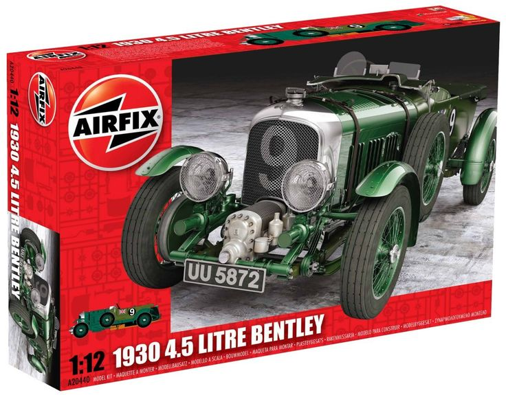 Airfix 1930 4.5 Litre Bentley Plastic 1:12 Scale Model Car Kit - available from Hobbies, the UK's favourite online hobby store!