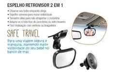 Espelho Retrovisor 2 Em 1 Safe Travel