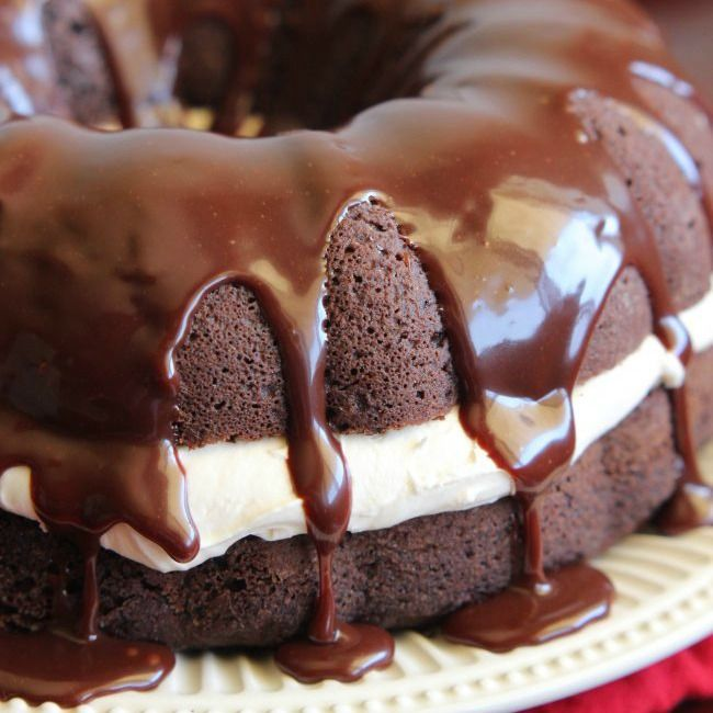 spin on the classic whoopie pie! A dense chocolate cake filled ...