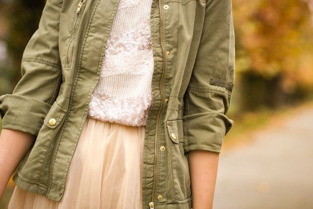 sequins tulle parka personal style dresssidestory