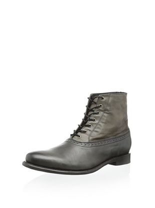 50% OFF JD Fisk Men's Newcastle Lace-up Boot (Black)