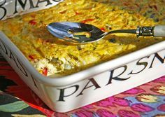 This egg and cheese casserole with chayote squash and green chiles will give your weekend guests a great start to the day.