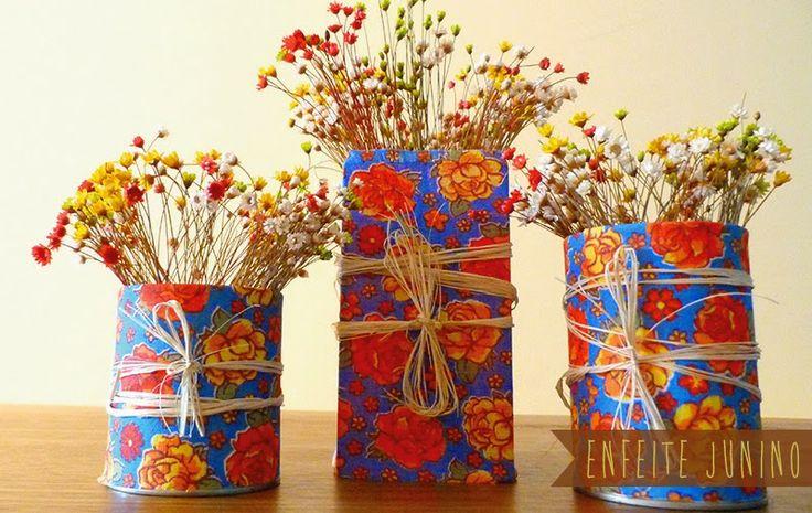 decoração festa junina, vaso, flor,