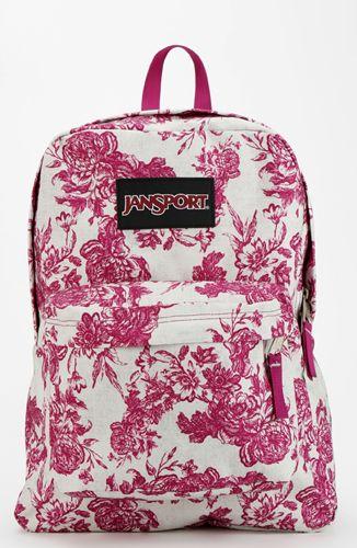 Girly: Vintage Floral Print Backpack