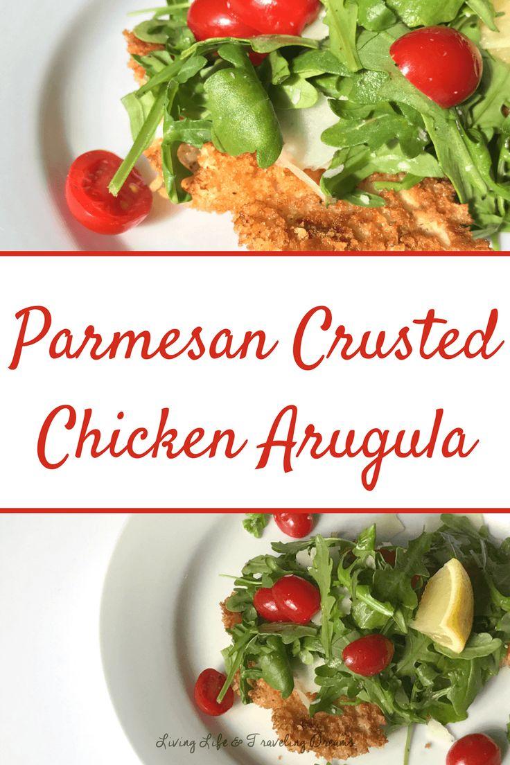 Parmesan Crusted Chicken Arugula