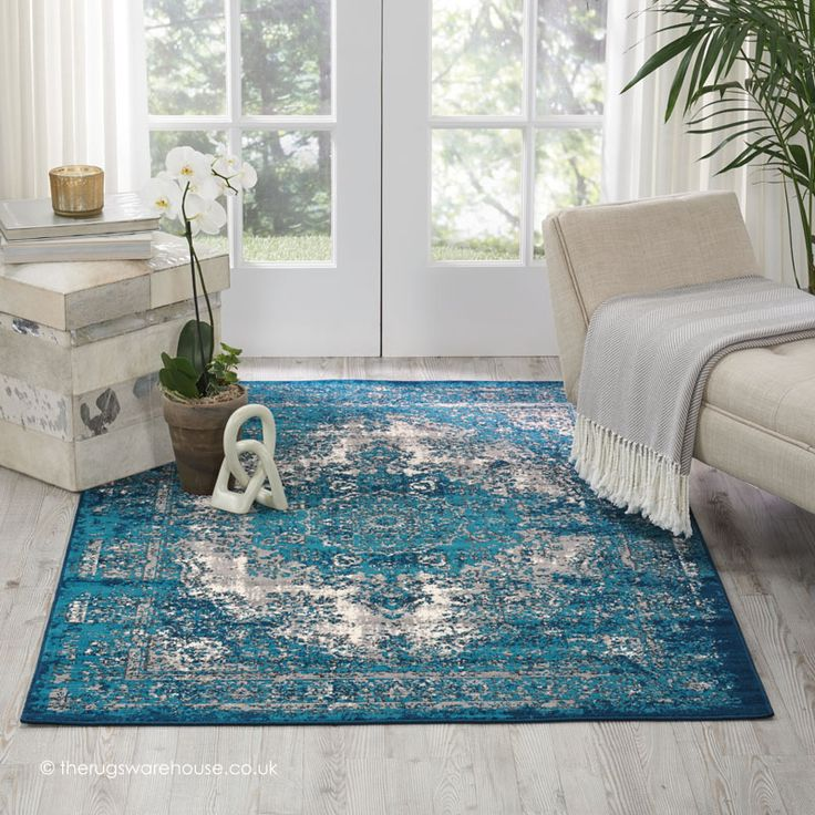 Wonderful Interior The Elegant Teal And White Area Rug: 25+ Best Ideas About Teal Rug On Pinterest