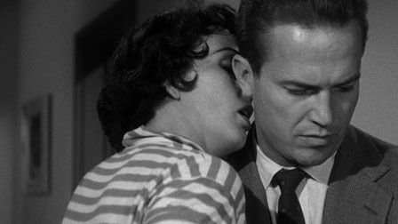 "One of the greatest of all films noir, Robert Aldrich's ""Kiss Me Deadly"" reframes Mickey Spillane's Mike Hammer in an atmosphere of Fifties nuclear paranoia. A terrific film from beginning to radioactive end."
