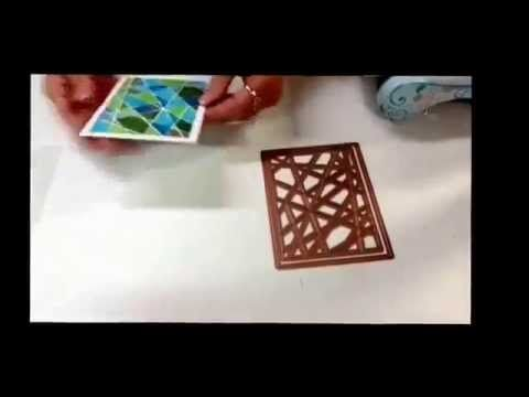 Spellbinders Glass Effects Die with A2 Card