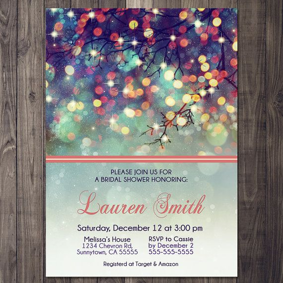 Winter Bridal Shower Invitation Starry Lights  by TheRestUnwritten