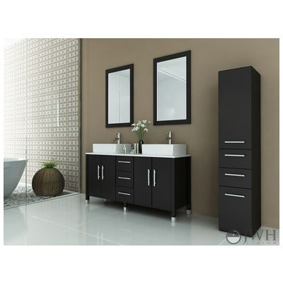 Delightful Best Deal   JWH Living Sirius   Stone, Bathroom Vanity In Espresso JWH 9128