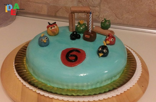 Torta di compleanno: Angry Birds