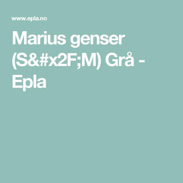 Marius genser (S/M) Grå - Epla