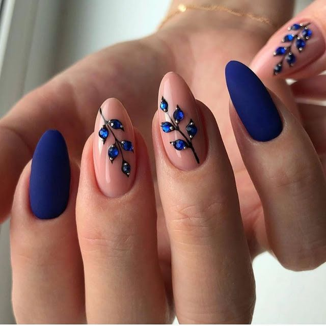 2019 2020 Beautiful Nail Designs For Winter Blue Nails Perfect