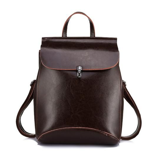 Vintage Leather Backpack For Ladies Treat Yourself Or A Loved One To This Gorgeous New Leather Bag! * Now At Over 50% Off *  Item Type: Backpack, Handbag, Shoulder Bag Style: Fashion Main Material
