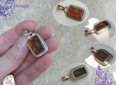 Vanyssa Vintage - Bijuterii Vintage: Marvelous Very Rare Fossil Organical Gemstone - Pa...