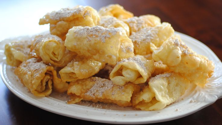 Christmas Pastries with Honey and Walnuts recipe! These are the traditional Greek diples!