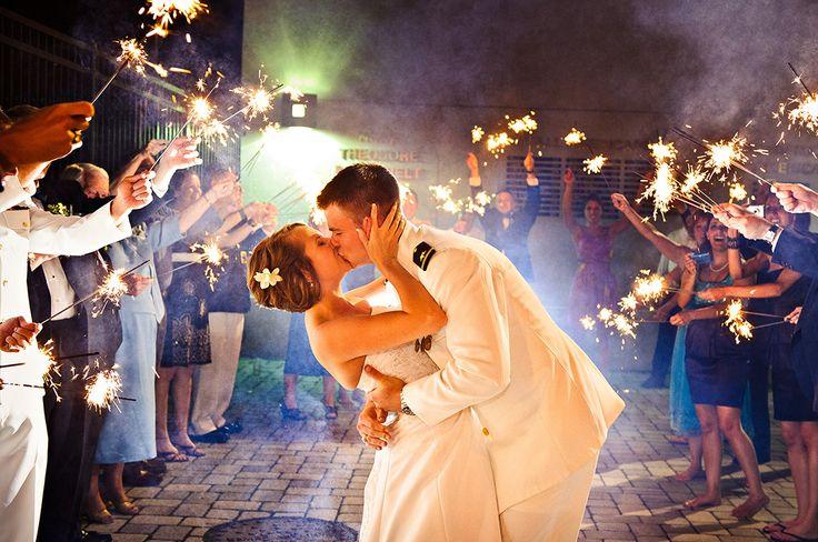 coast guard weddingPhotos Ideas, Sparklers Add, Future, Design Heart, Heart Sparklers, Wedding Sparklers, The Brides, Military Wedding, Send Off