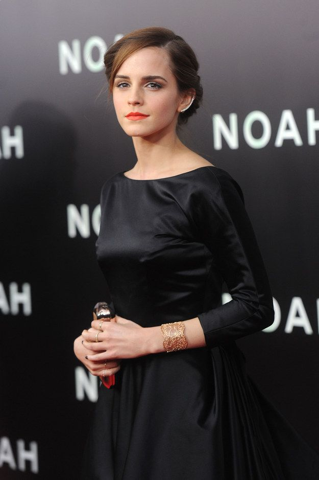 When the star showed up to the Noah premiere looking fashionably flawless with a cool ear accessory. | The 25 Most Amazing Emma Watson Moments Of 2014