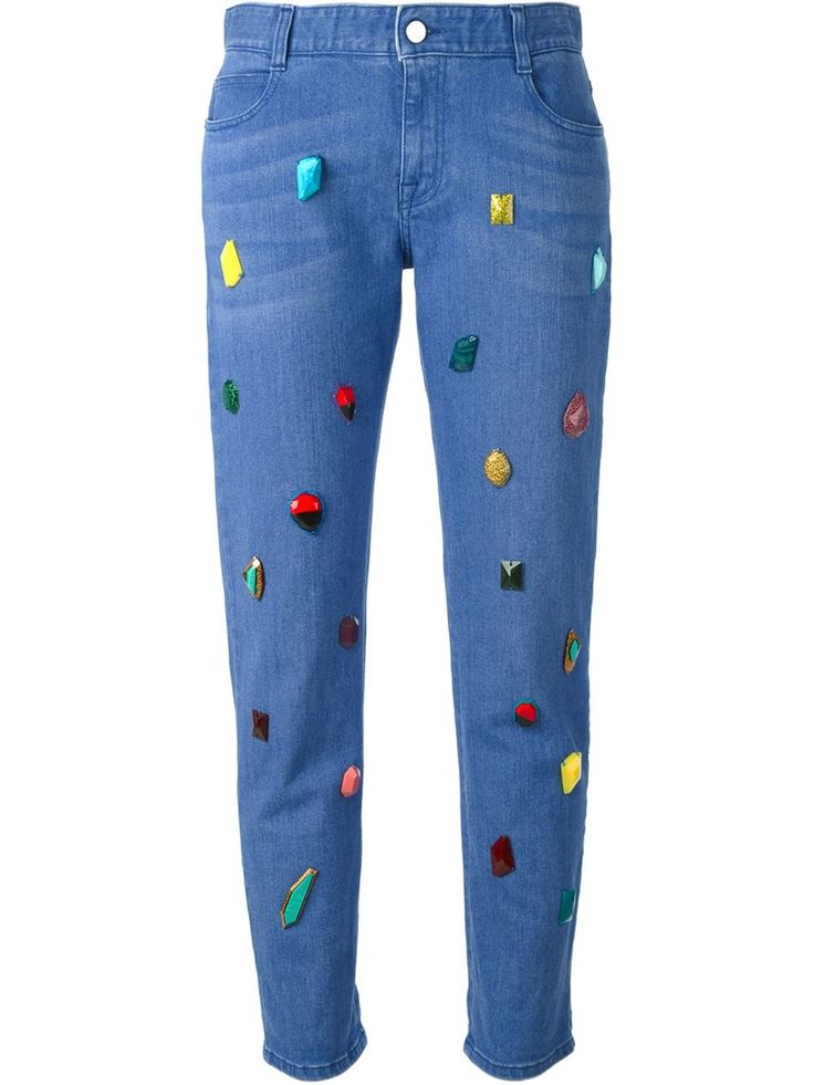 Shop STELLA MCCARTNEY embellished jeans from Farfetch