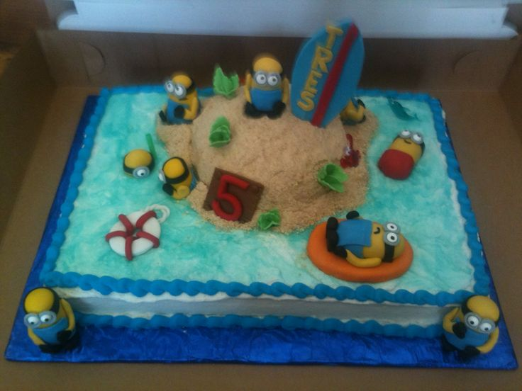 Despicable Me Beach Cake