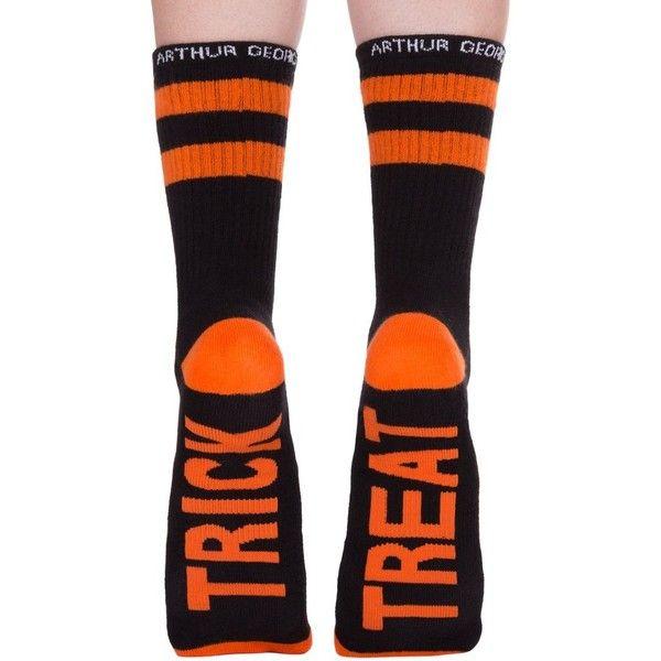 Arthur George Half-Crew Socks ($15) ❤ liked on Polyvore featuring intimates, hosiery, socks, cotton crew socks, orange crew socks, orange socks, crew cut socks and crew length socks