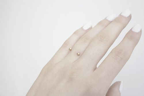 matching ring finger piercing
