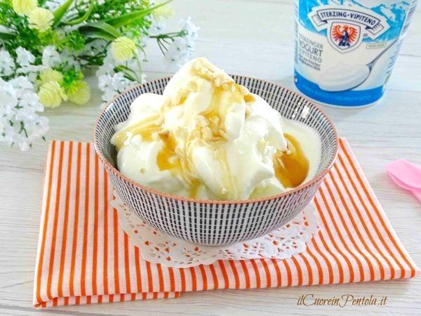 Il gelato allo yogurt è il gelato con il quale ho deciso di inaugurare la gelatiera kenwood... gelato morbido e cremoso preparato con yogurt, panna e latte