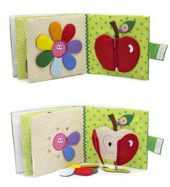 *This book can be personalized. When you purchase select the name of your baby, or another name of the book! Childrens Quiet Book, Busy Book, Eco friendly, educational 12 pages. Children are constantly looking, listening, and touching things in their surroundings. They love colors, shapes,