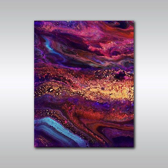 Art Print 5 x 7 Jewel Toned Purple and by ColourInMotionStudio
