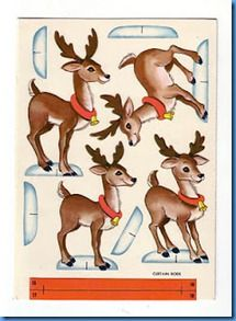 Reindeer printable and paperdolls too